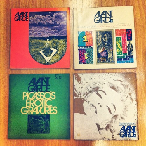 Avant Garde covers from 1968 and 1969. Love.  (Taken with Instagram)