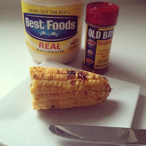 Best combo of sweet & salty, summer grilling! #oldbay  (Taken with Instagram)