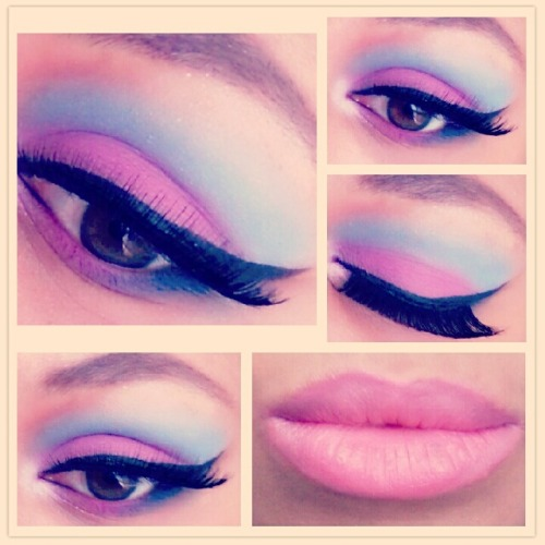 Cotton candy inspired makeup http://themakeupbender.tumblr.com/