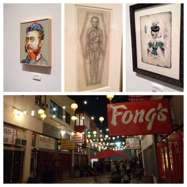 Chinatown gallery opening - #downtownla #art #gallery #mixtape #la #losangeles #markryden #fineart #aaronsmith #paintings (Taken with Instagram)