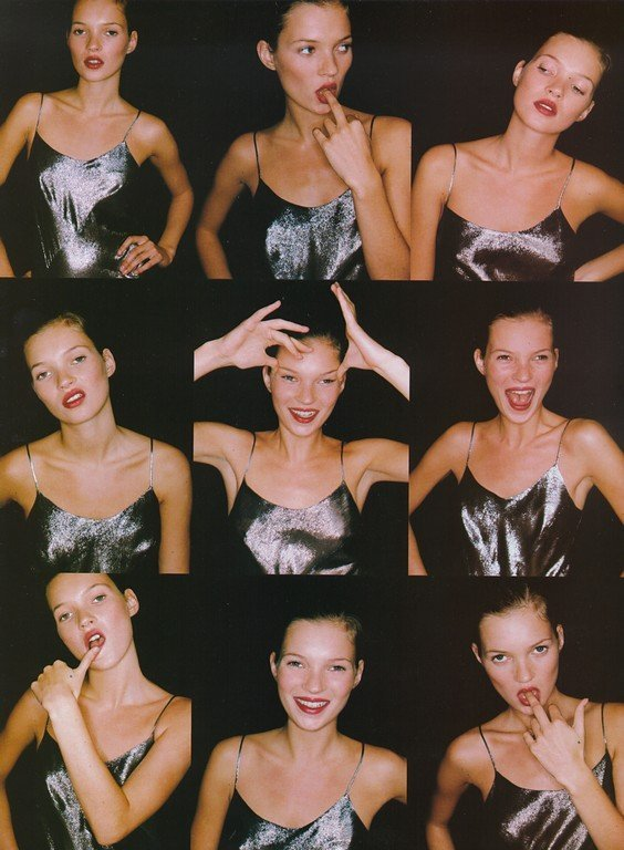 Kate Moss photographed by Juergen Teller for Vogue UK, April 1994