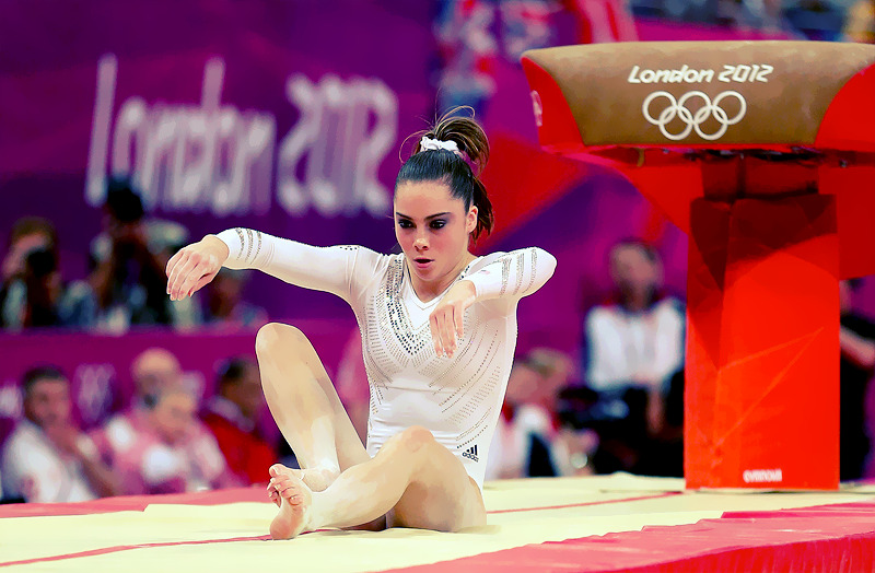 OLYMPICS DAY 8 My shock of the day goes to McKayla Maroney as she failed to land her dismount in Gymnastic's Women's Vault Final. She would finish second with a silver.Photo by Ronald Martinez