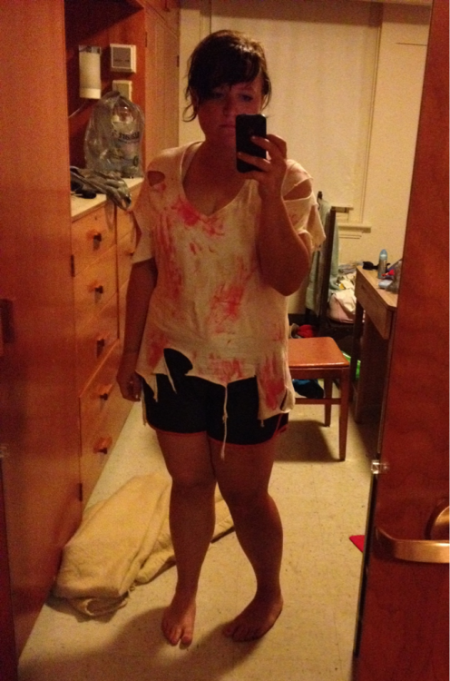dontouchmyzanpakuto:  Zombie day attire from yesterday.   Last full day of band tomorrow of my whole life.  You look gorgeous!
