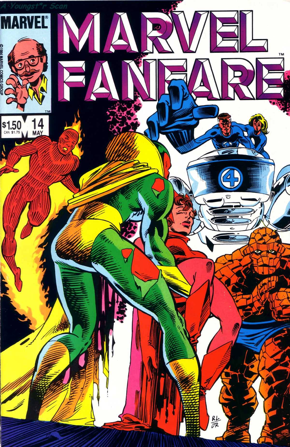 The cover of Marvel Fanfare #14 starring the Vision's butt!