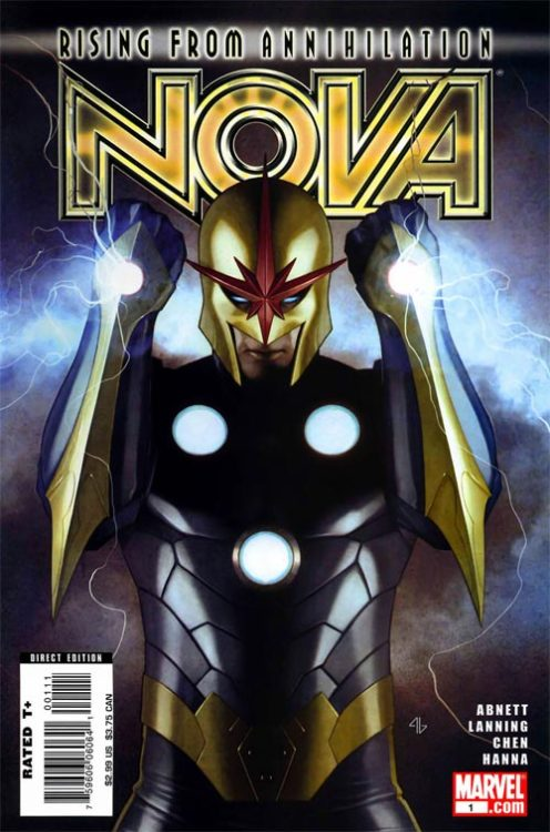 Nova v4 #1, June 2007, written by Dan Abnett and Andy Lanning, penciled by Sean Chen