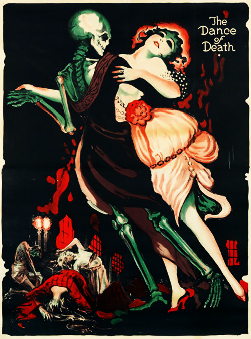 Poster by Josef Fenneker for the lost Fritz Lang film Totentanz, 1919