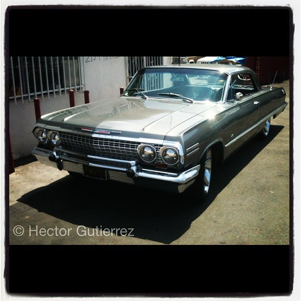 Chevy Impala : Low Rider - South Central Los Angeles #lowrider #swag #style #socal #californialifestyle #lifestyle #coolshit (Taken with Instagram)