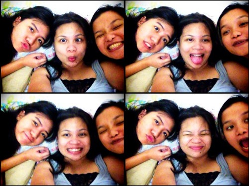 25 July 2012 With my good friends and housemates — Butch and Mariel. :)