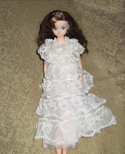 Great lace dress for any 11 - 12 inch doll. This Takara doll wears it beautifully. http://www.avaneshop.com/product/japanese-doll-outfit-lace-lolita-dress-takara-jenny-doll-licca