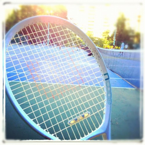 Hello there! Long time no see! :))) #tennis #raquet #summer #activities (Taken with Instagram)