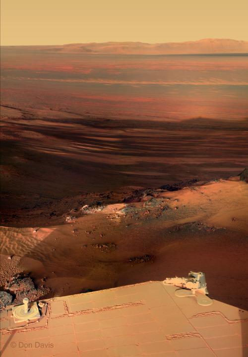 themartianblues:  Endeavour photograph from the Opportunity Rover