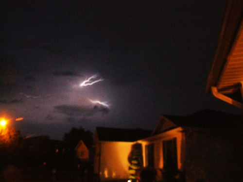 Caught Lightning in the frame.