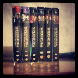 Supernatural season 1-6 boxsets. My beautiful love and I can't get enough <3 (Taken with Instagram)