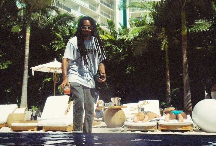 MR HOOK caught me thuggin' out at The Edition Private Pool a few weeks ago. See how scary I look with my hair down and a glass of rum in my hand?