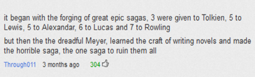 shogunofyellow:  Best Youtube comment.