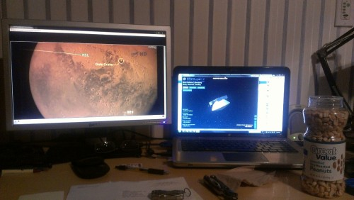 Watching the Curiosity landing.