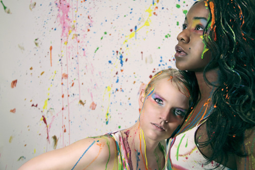 Paint Explosion Models: Grace and Erin Makeup: Kenneth Crowder Photography: Gino Baileau