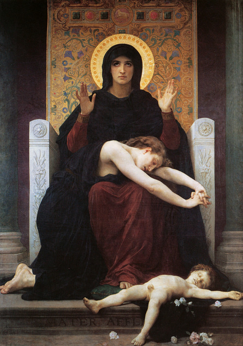 automatismo-hidrargirismo:  William Adolphe Bouguereau, La Vierge Consolatrice (Virgin of Consolation), 1877.