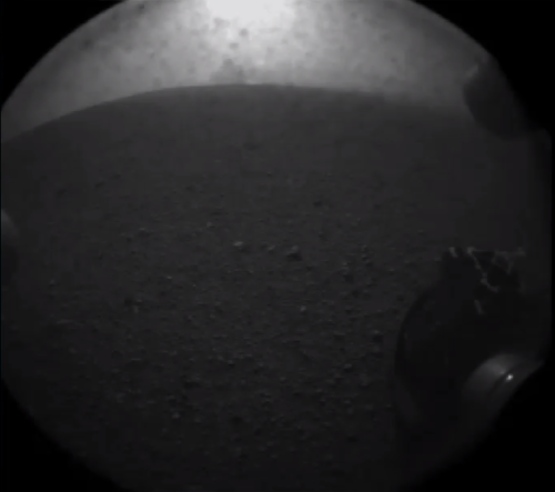 nedhepburn:  The first picture of Mars from Curiosity.