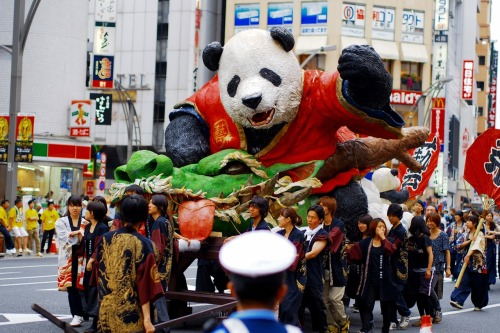 Kungfu panda float at Ueno summer festival