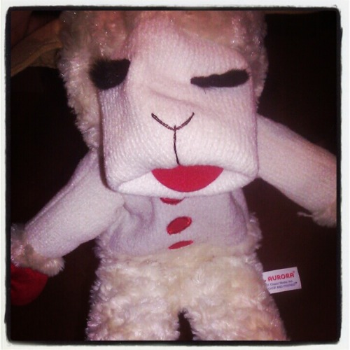 My man friend gave me Lamb Chop because he loves me.  I'm pretty sure he's a keeper :-)