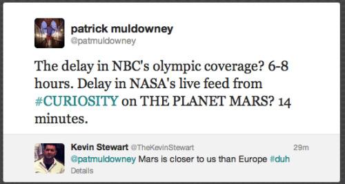 Mars» Olympics. NASA» NBC.