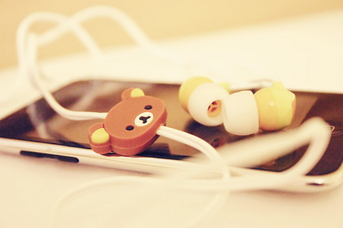 Rilakkuma Headphones by solid_blossom on Flickr.