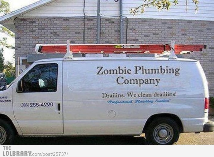 Even the Undead need jobs.Follow this blog for the best new funny pictures every day