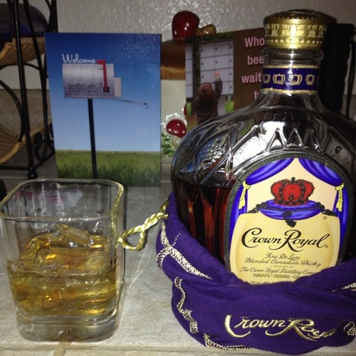 For every king his crown #crownroyal (Taken with Instagram at Mamma's House)