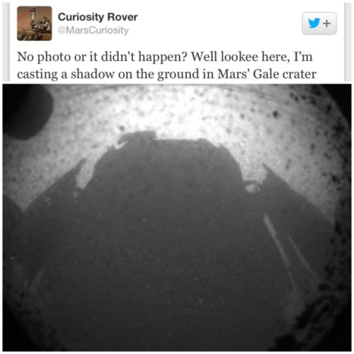 Curiosity's shadow