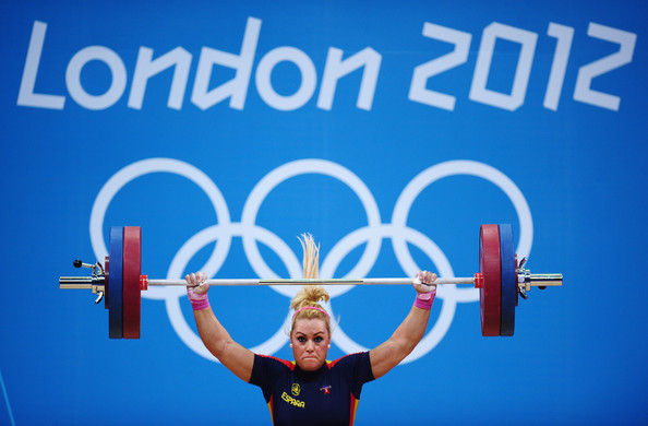 Lidia Valentin Perez of Spain. Women's 75kg Weightlifting.  Source: Laurence Griffiths/Getty Images Europe