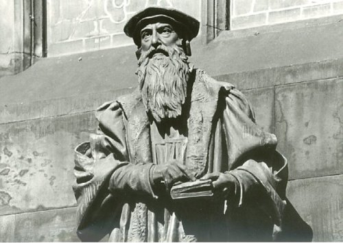 Speaking of Scotland, here's John Knox (1513/14-1572), a Scottish clergyman who led the reformation in Scotland and founded Presbyterianism.