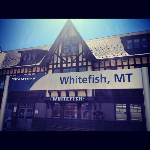 Whitefish.. Another stop on the road trip #amtrak..#camping #lake  #montana #sunhwy #summer #roadtrip #travel #tourism  (Taken with Instagram)