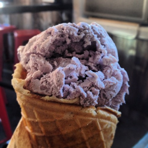 Huckleberry icecream  #icecream #lake  #montana #sunhwy #summer #roadtrip #travel #tourism  (Taken with Instagram)