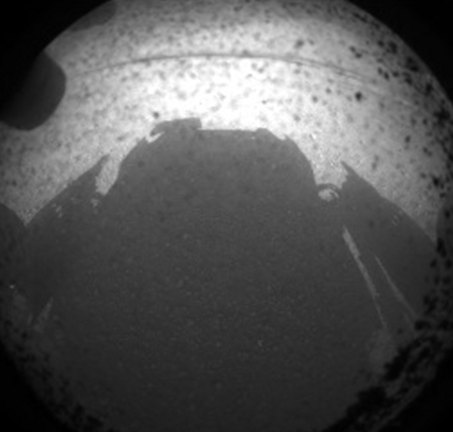 From @MarsCuriosity:   No photo or it didn't happen? Well lookee here, I'm casting a shadow on the ground in Mars' Gale crater  Amazing. Amazing. Amazing. Congratulations and *thank you* to all of the scientists, technologists, engineers, mathematicians and everyone other super awesome person at JPL and NASA!