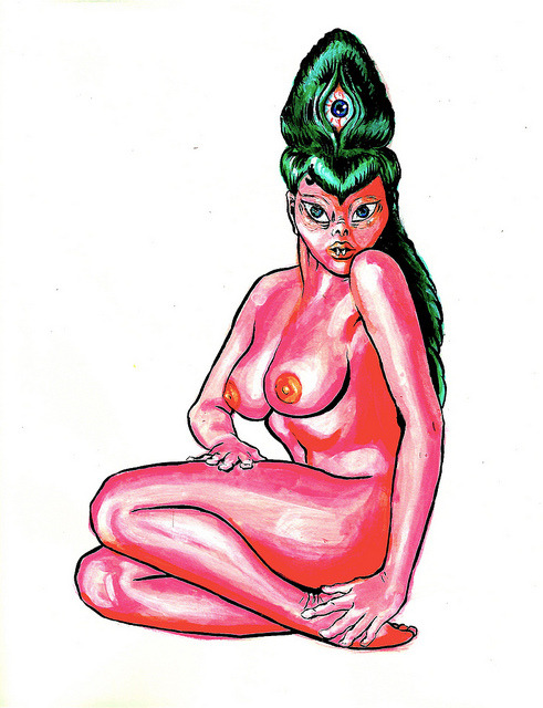 esobvio:  Alien Pin-up by Penelope Helen Gazin on Flickr.