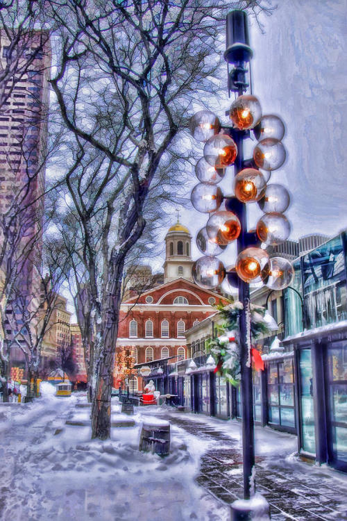 (via Faneuil Hall Winter Photograph by Joann Vitali - Faneuil Hall Winter Fine Art Prints and Posters for Sale)