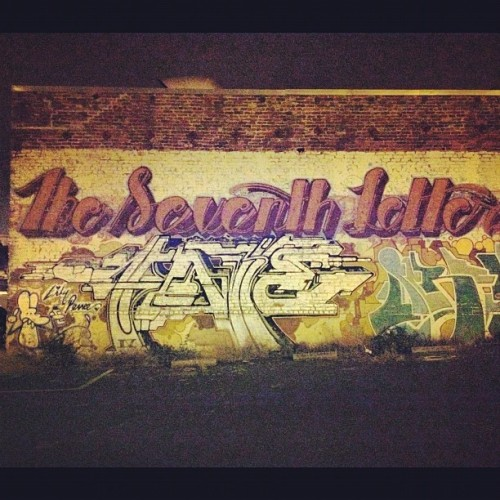 bombed wall in SF #theseventhletter @jeremycolegrove  (Taken with Instagram)
