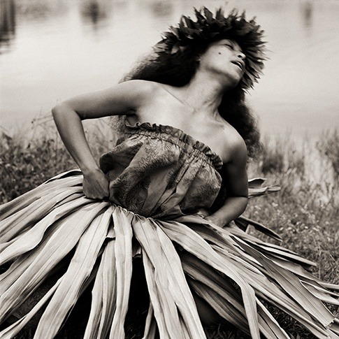 miamou:  ' Traditional Hula Dancer' , Hawai Dana Gluckstein 'Tribes in Transition' Collection