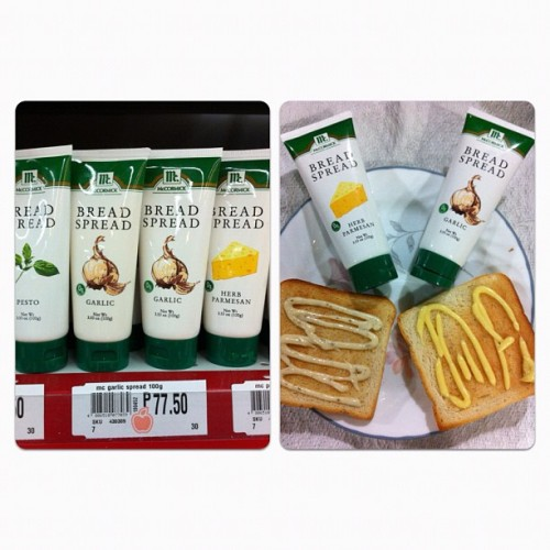 McCormick Bread Spread - Herb Parmesan & Garlic Php77.50 each 7/10 #mccormick #bread #spread #herb #parmesan #garlic #toast #funchomp  (Taken with Instagram)