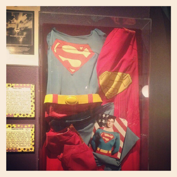 My sister sent me this picture from a wax museum in Texas. I love it. #comics #Superman (Taken with Instagram)