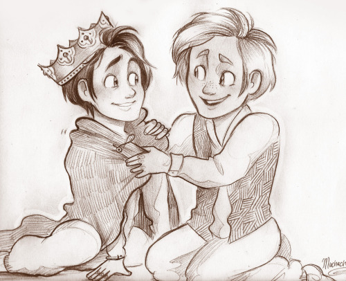 "muchacha11:  ""You'll be a great king one day, Loki."" ""You really think so?"" ""I know so."""