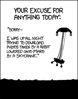 About to head off to work, this is my excuse for being a zombie. xkcd