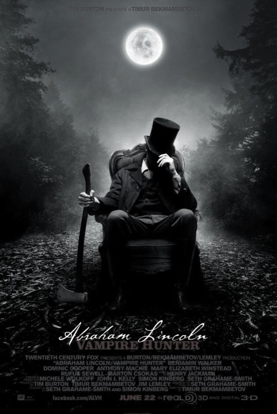Abraham Lincoln Vampire Hunter (2012) R18+ Main Cast: Benjamin Walker, Dominic Cooper, Mary Elizabeth WinsteadAt the age of 9, Abraham Lincoln witnesses his mother being killed by a vampire, Jack Barts. Some 10 years later, he unsuccessfully tries to eliminate Barts but in the process makes the acquaintance of Henry Sturgess who teaches him how to fight and what is required to kill a vampire. The quid pro quo is that Abe will kill only those vampires that Henry directs him to. Abe relocates to Springfield where he gets a job as a store clerk while he studies the law and kills vampires by night. He also meets and eventually marries the pretty Mary Todd. Many years later as President of the United States, he comes to realize that vampires are fighting with the Confederate forces. As a result he mounts his own campaign to defeat them.  I won't say too much on this because it has only just come out, I went and saw it the Friday night just past and I did enjoy it alot more than other Vampire movies. I even enjoyed it more than the first two Underworld movies (NOTHING ever beats Rise of the Lycans) Let me say this, I am a huge Vampire fan (I've never even touched a Twilight book) and I like real traditional/folkloric Vampires. So no 'rings to stop the sun burning you' etc etc 1. I did not like the teeth of the Vampires in this movie, I like the simple one set of fangs, these ones had full mouths of fangs. 2. I would have preferred that they went into more detail about how the Vampires adapted to the sunlight as that COULD be an excusable adaptation to the whole concept if thought of well.. I wasn't too sure how I felt about the whole Abe Lincoln thing but I was also not aware that it was done by the mashup novelist Seth Grahame-Smith, who did the well known pride prejudice and zombies, until I sort of tossed around the whole idea in my head whilst watching the movie and looked it up afterwards. Anyway overall, I like Vampires in 'olden times' Rise of the Lycans is my favorite because I LOVE medieval times and this one hit a real soft spot for me because I say sometimes nothing looked more awesome then the silhouette of Abe in his trench and top hat spinning that brutal axe. Damn.  Favourite | Good | Neutral | Burn It