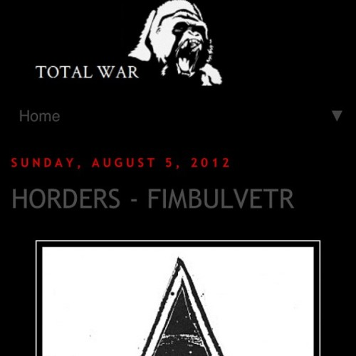 Horders - Fimbulvetr LP review over at Total War blog - http://www.crushopposition.com/2012/08/horders-fimbulvetr.html?m=1 #horders #giveup  (Taken with Instagram)