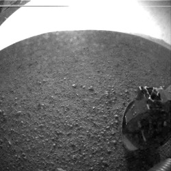 the-star-stuff:  NASA's Curiosity rover landed on Mars in a daredevil maneuver that used a rocket-powered sky crane to lower the 1-ton robot safely to the Martian surface after plunging through the planet's atmosphere.  Never before had the maneuver been attempted and, by all accounts, it was a spectacular success.