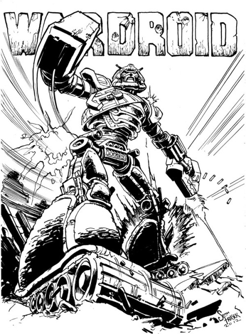 stomm2000ad:  Outstanding Hammerstein of the A.B.C Warriors by 2000AD's Simon Fraser. Although not normally associated with the Warriors,on this merit,I would love to see him do a series. Taken from the superior Scottish artists initiative,Scotch Corner blog.