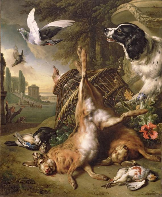 Still Life with Dead Game and Hares Jan Baptist Weenix