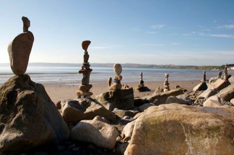 Stone Balancing in Filey.
