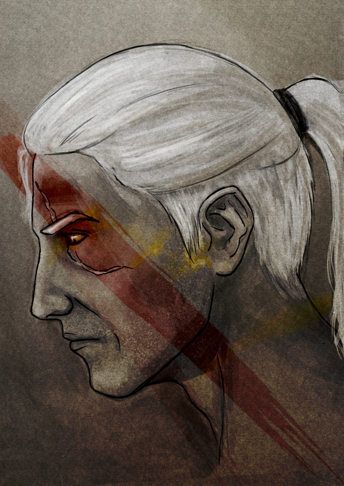 amandasdrawers:  In celebration of me not writing my essay, I drew a Geralt :3